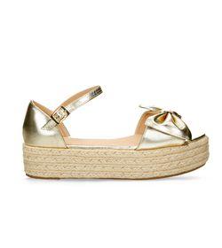 Sandalias-de-plataforma-Dorado-Bata-Casual-Mujer