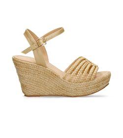 Sandalias-de-plataforma-Champaña-Bata-Zulemita-Mujer