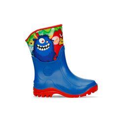 Botas-plasticas-Azul-Bubblegummers-Monstruo-Niño