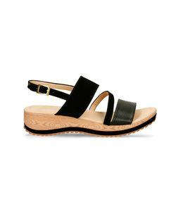 Sandalias-de-plataforma-Negro-Bata-Howi-Mujer