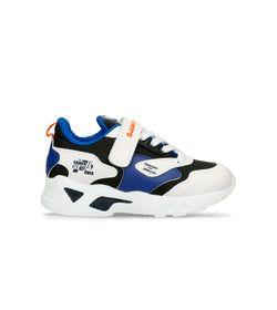 Zapatos-Casuales-Blanco-Azul-Bubblegummers-Montreal-Niño