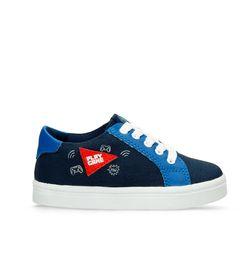 Zapatos-Casuales-Azul-Rojo-Bubblegummers-Metz-Niño