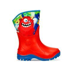 Botas-Rojo-Azul-Bubblegummers-Monstruo-Niño