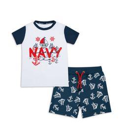 Conjunto-Camiseta-Y-Bermuda-Blanco-Azul-Bubblegummers-Esteban-Niño